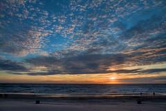 Sunset at Egmond at Sea