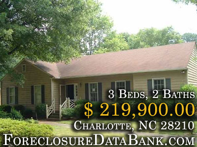 Charlotte Foreclosures North Carolina 3Bd 2Ba  21990000  ForeclosureDataBankcom by ForeclosureDataBank