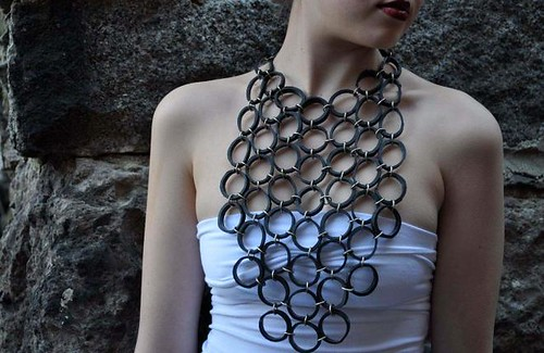 My Sister's Art recycled rubber jewelry