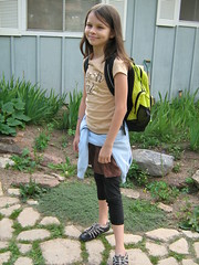 Ready for her first day of fifth grade