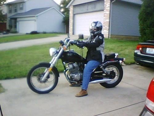 #1 on her bike