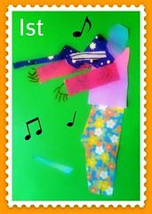 Amelie's Violinist Stamp