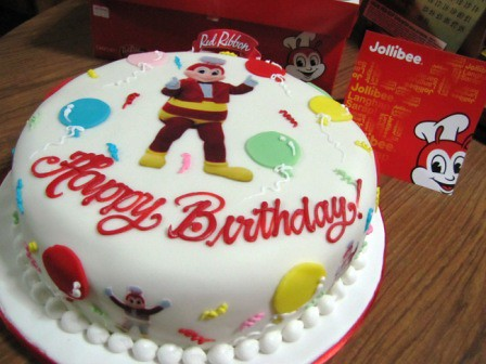 Jollibee Birthday Cake by Red Ribbon