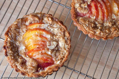 crunchy and custardy peach tart-10