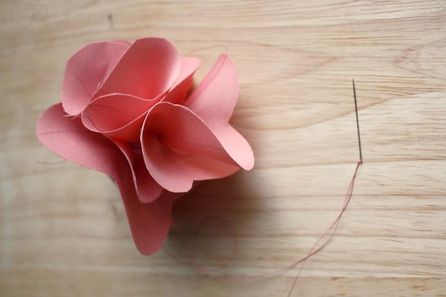 Step 9: Push Petals Together, Secure Ends