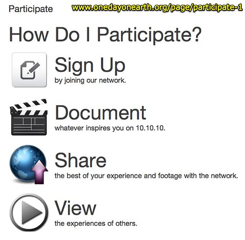 Participate - One Day On Earth