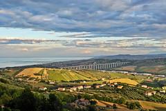Un ultimo respiro del sole (the_lighter) Tags: bridge sunset sea clouds nikon tramonto nuvole mare ponte campagna belvedere alto f11 paesaggio d60 30mm raggio tortoreto solare giulianova