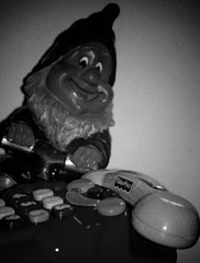 E T.......... (fragglehunter aka Sleepy G) Tags: bw toys gnome phone decay et gnomes pun urbanexploring ue urbex sleepyg ukurbex filmlines fragglehunter yahoo:yourpictures=blackandwhite sleepygphotography fragglehunterurbex fragglehunteraerialphotography fragelhunter