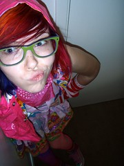 Silly weirdo face (Megan is me...) Tags: blue original portrait orange green apple colors fashion rose self hair photography grey glasses spring amazing cool eyes colorful neon pretty ray colours russell mckay bright turquoise unique oneofakind ooak awesome meg violet plum megan style jerome mandarin colored dye ban mayhem punky dyed napalm specialeffects sfx rosered megface meganisme meganyourface