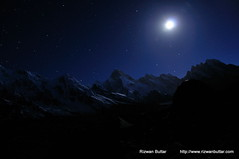 MasherBrum at Night (rizwanbuttar) Tags: pakistan light moon mountain tower night shots concordia trango rizwan baltoro masherbrum buttar gaherbrum