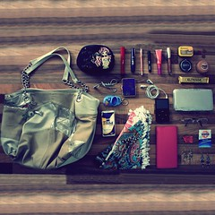 What's really in her bag ? August 2010 (donchris!) Tags: from shadow cinema paris france eye classic moleskine make up by scarf project bag movie tickets mouse glasses mirror is high pod frankreich little wallet milano salt sac dream 7 poland her explore purse jade gb what kiko lip gloss heel mascara eyelash curler earrings 12 bolsa borsa francia 32 matte chocolatebar tissues pars 2010 volume parigi liner etam wipes tasche notizbuch pary 712 francja torba penicl ohropax i sagrotan disinfecting elitesse