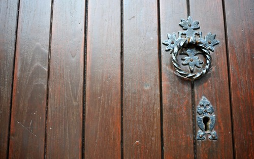 Knocker and Key Hole, St Matthews Church