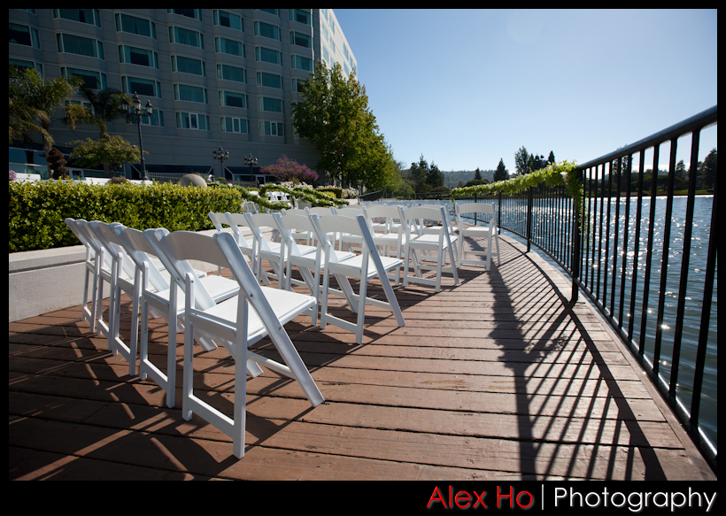 wedding ceremony redwood shores hotel sofitel
