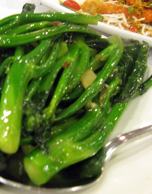 Stir Fried Choi Sum with Garlic and Ginger