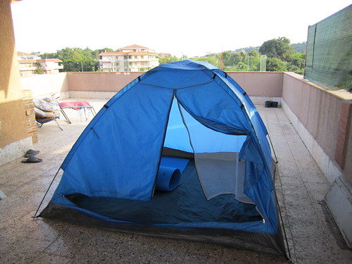 Tent Bed on Terrace