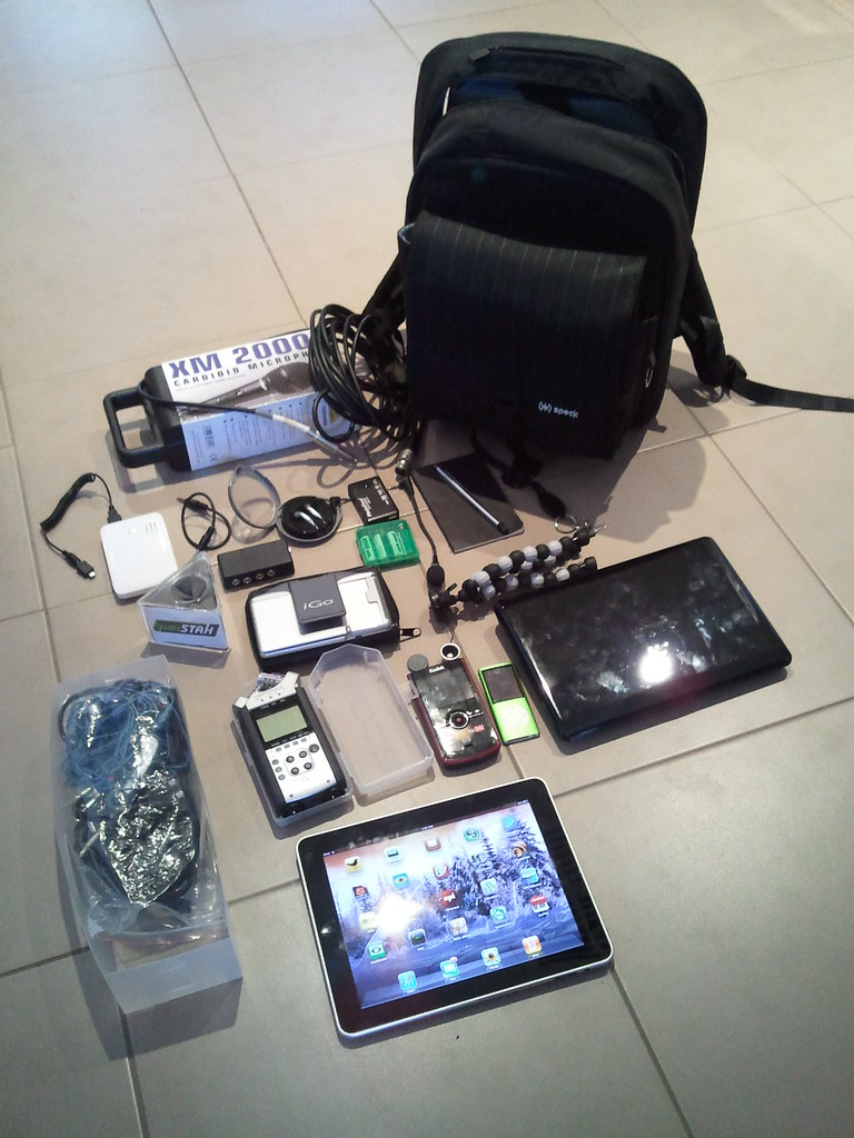 What's in your backpack - portable podcasting