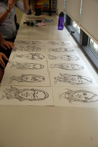 Caricature live sketching @ UOB Finance Division - 14