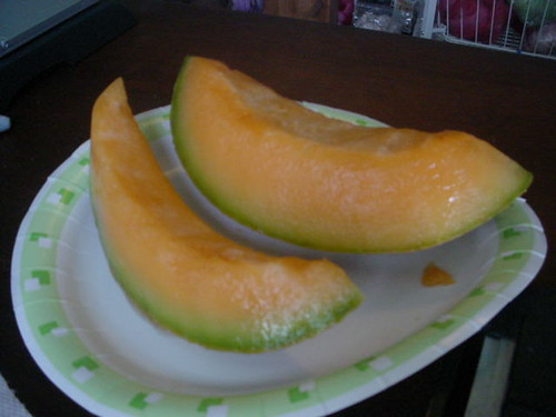 Breakfast of Fresh Cantaloupe