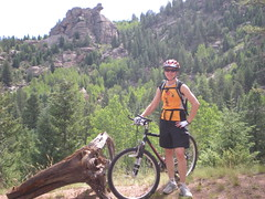 Clare Taking a Breather on Colorado Trail