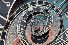 (nitedojo) Tags: old city trip travel clock colors town europe prague gimp places praha fave linux escher astronomical droste   mathmap dsc8736 perspecitves nitedojo