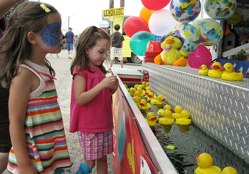 Westmoreland County Fair 2010:  Lucky ducks.
