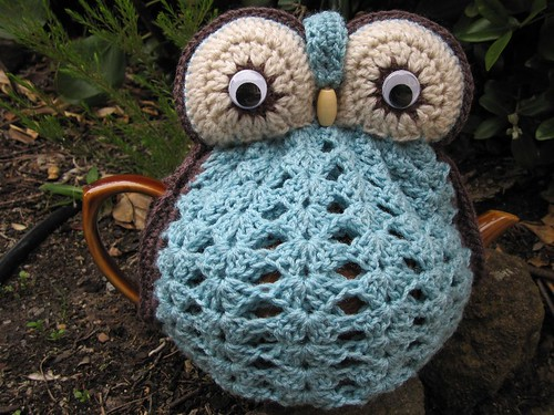 Robins Egg Blue Owl Tea Cosy