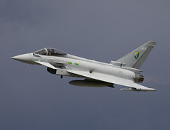 Typhoon (Bernie Condon) Tags: plane flying fighter aircraft airshow eurofighter bae typhoon raf dunsfold airdisplay