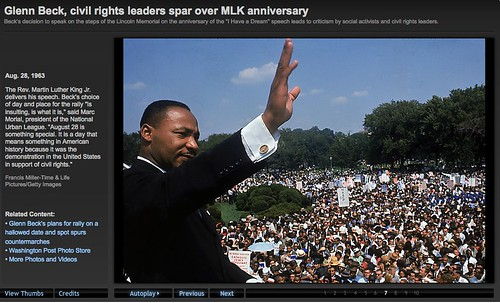 Dr. King's original march on Washington