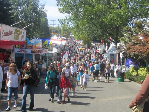 Monday afternoon crowd at the PNE