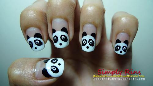 Nail Art Panda 06