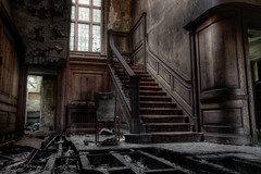 The Grand Staircase (Dan Parratt) Tags: abandoned decay urbanexploration urbex pottersmanorhouse