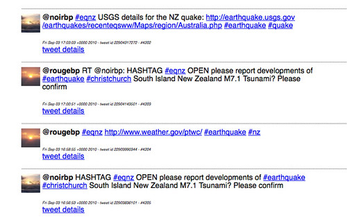 Earliest mentions of #eqnz tag