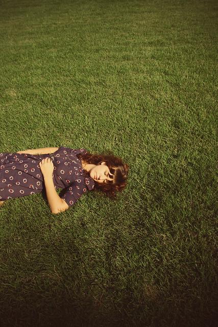 Grass, Girl & Sky