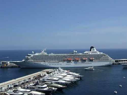 cruise ship in Port Hercules in Monaco