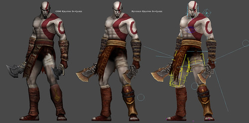 God of War: Ghost of Sparta for PSP: in-game model