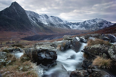 MOUNTAIN STREAM TRYFAN AND THE GLYDERS (GOLDENORFE) Tags: ice wales waterfall stream waterfalls snowdonia tryfan northwales theglyders ogwenvalley