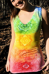 altered tees - 048 (ExaltationCreations) Tags: yoga illustration altered hoop t clothing rainbow colorful bright handmade tshirt womens clothes tanktop tee chakra organiccotton