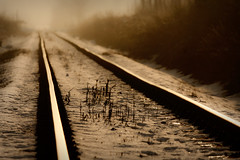 A Way to Nowhere (StafbulCZ) Tags: light fog canon moody dof foggy tracks l usm f4 gettyimages ef70200 canonef70200f4lusm canoneos40d stafbulcz jaroslavvondracek
