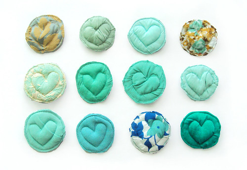 hearts of aqua and turquoise