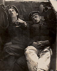 Sleeping On-Board (MomentsBeingMe) Tags: sleeping blackandwhite men uniform sleep postcard navy sailors german sailor ww1 oldphotograph 1wk firstworldwar 1916 19141918 imperialnavy 1ereguerremondiale