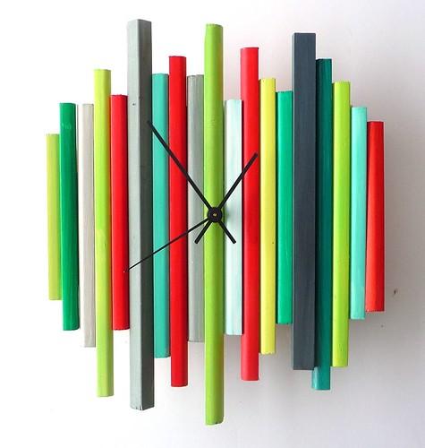 modern wall clock sticks sculpture clock no3