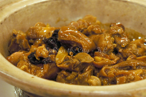 Braised Pork Trotter with Dried Oyster & 'Fatt Choy'