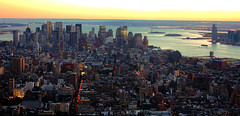 New York City USA - Empire State Building South Manhatten Pano