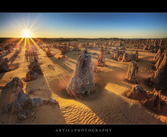The Pinnacles, Cervantes, Nambung National Park, Western Australia :: HDR (Artie | Photography :: I'm a lazy boy :)) Tags: morning nature photoshop canon landscape dawn landscapes sand ripple tripod australia wideangle formation perth limestone ef 1740mm cervantes westernaustralia hdr pinnacles artie cs3 3xp nambungnationalpark f4l photomatix tonemapping tonemap 5dmarkii 5dm2