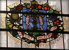St Mary Abchurch, Window, Worshipful Company of Fruiterers (L'habitant) Tags: london church monument glass churches stainedglass wren 1976 cityoflondon ec4 d60 lhabitant lsl lawrencelee stm