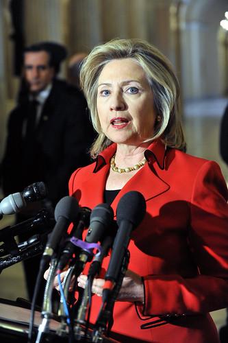 Secretary Clinton Briefs the Press on Capitol Hill