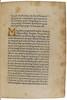Illuminated initial in Pius II: De duobus amantibus Euryalo et Lucretia