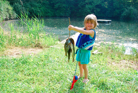 Thirshfeld's daughter fishing
