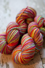 'Mckenzie's Rainbow' Kettle dyed on Canadian BFL DK
