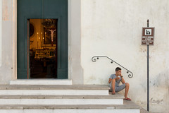Gallipoli, chiesa dei Paolotti (Angelo M™) Tags: gallipoli puglia lungomare mare seaside sea landscape paesaggio tramonto sunset italia italy street people